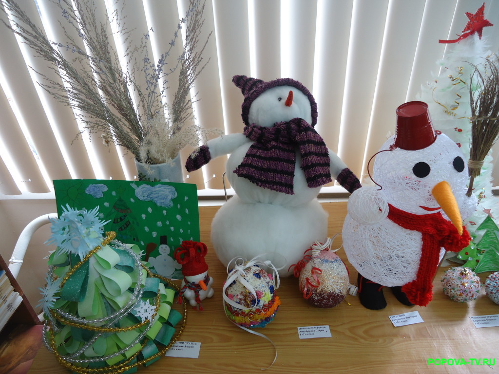 Поделки моих учеников на конкурс Новогодняя сказка