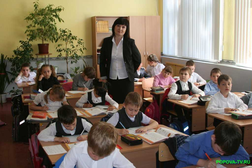 Урок русского языка в 1 классе